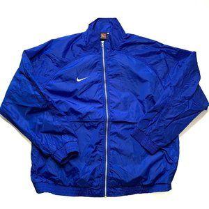 Vintage Nike Windbreaker Jacket Size XLT Blue